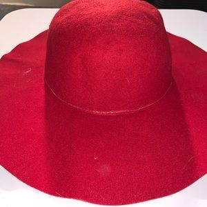 Accessories - NWT Red floppy brim hat